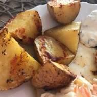 Ziemniaki pieczone np. do obiadu, bardzo smaczne