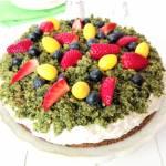 Wiosenne ciasto - leśny mech