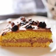 Ciasto z masą czekoladową i masłem orzechowym   bez glutenu /laktozy /cukru   