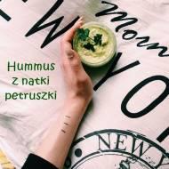 Hummus z natki pietruszki