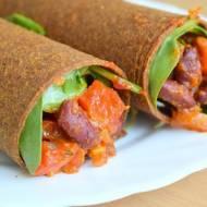 Tortilla z przepysznym farszem warzywnym - wege i bez glutenu :)