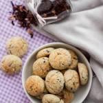 Kokosowo-jaglane ciasteczka z hibiskusem (bez cukru, bez glutenu, bez jajek)