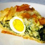 Tarte de Pascoa. Portugalska tarta ze szpinakiem i jajkiem.