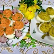 Jajka Faszerowane z Farszem Czerwonym i Zielonym