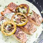 Łosoś piccata na wielkanocny obiad