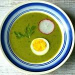 Neunkräutersuppe. Wielkanocna zupa ziołowa.