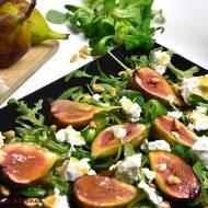 Sałatka z karmelizowanymi figami i kozim serem