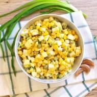 Sałatka z kukurydzy i groszku
