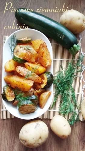 Pieczone ziemniaki z cukinią