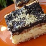 Ciasto orzechowo - serowe