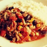 Chili con carne z kukurydzą