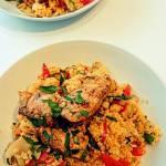 kuskus z warzywami i orientalnym kurczakiem