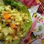 Odchudzona salatka z kurczakiem i mandarynkami