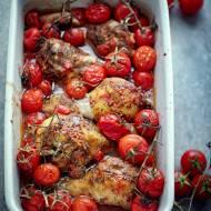 Kurczak pieczony z pomidorkami