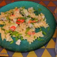 Makaron z warzywami i gorgonzolą