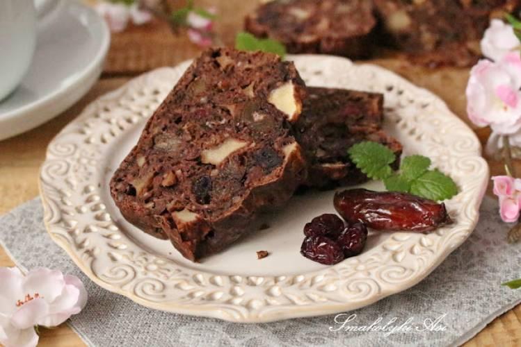 Ciasto kakaowe bez cukru i tłuszczu