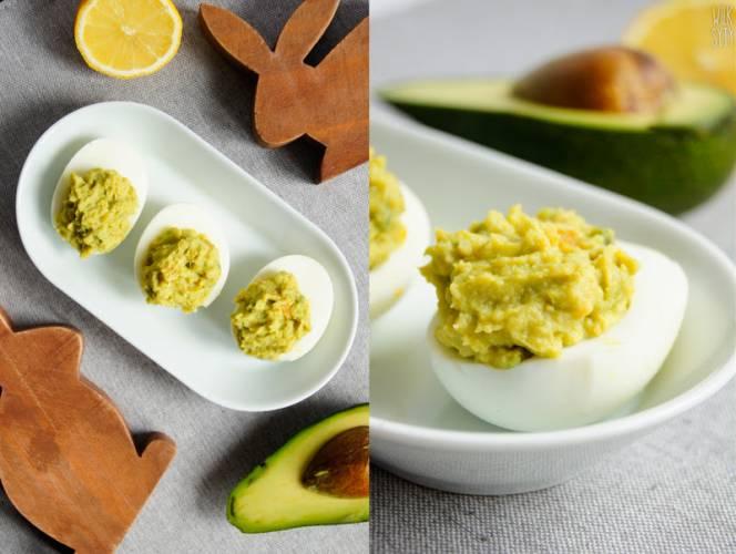 Faszerowane jajka z awokado (4 składniki)