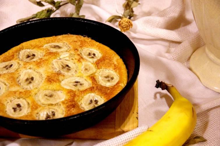 Pieczony omlet bananowy