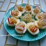 Jajka faszerowane z suszonymi pomidorami