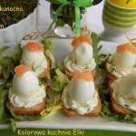 Przekąska wielkanocna z jajkiem przepiórczym