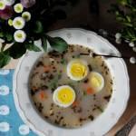 Wielkanocny żurek bez glutenu i laktozy