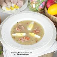 domowy tradycyjny żurek Wielkanocny