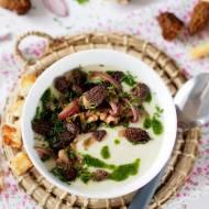 Zupa krem z białych warzyw ze smardzówkami
