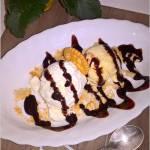 Deser z cytrynowym mascarpone i lodami