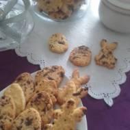 Kruche ciasteczka z kawałkami czekolady.