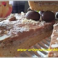 Mazurek czekoladowy z bezą orzechową