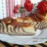 Sernik zebra czekoladowo waniliowy.