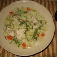 Zupa jarzynowo -ogórkowa z rybą