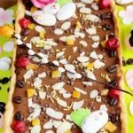 Mazurek czekoladowo-kawowy (na lekko migdałowym spodzie)
