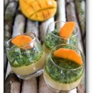 Budyń z kaszy jaglanej z mlekiem kokosowym, mango, kiwi i kaki