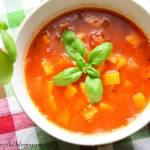 Zupa z batatem, czerwoną soczewicą i passatą