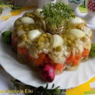Wielkanocna galareta-babka drobiowo warzywna