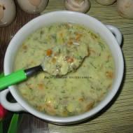 Zupa pieczarkowa z kluseczkami