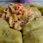 Brokułowe kopytka z sosem porowym