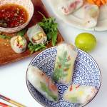 Spring rolls z pieczonym łososiem