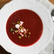 zupa krem z buraków i pomidorowy