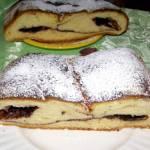 pyszne ciasto drożdżowe z powidłami kakaowymi...