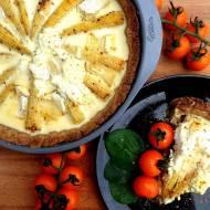 Pikantna tarta z młodą kukurydzą 4 sery. Zdrowy, ciekawy pomysł na kolację.