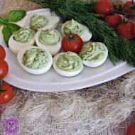 Jajka z zieloną pastą (z brokułem, koperkiem i szczypiorkiem)