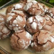 Popękane czekoladowe ciasteczka-przepyszne :-)