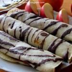 Naleśniki  w kakaowe paski