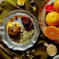 Dyniowo-morelowe lody z quinoą i sokiem z klementynek (bez glutenu, bez laktozy, bez cukru)