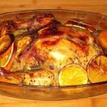 Kurczak w pomarańczach.