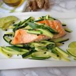 Łosoś z marynowaną cukinią (Salmone con zucchine marinate)