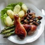 Pieczone pałki z kurczaka w miodowej marynacie