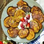 Placki plantanowe z batatem